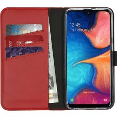 Selencia Étui de téléphone en cuir véritable Samsung Galaxy A20e