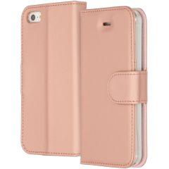 Accezz Étui de téléphone Wallet iPhone SE / 5 / 5s - Rose Champagne