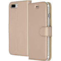 Accezz Étui de téléphone Wallet iPhone 8 Plus / 7 Plus - Dorée