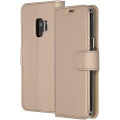 Accezz Étui de téléphone Wallet Samsung Galaxy S9 - Dorée