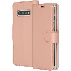 Accezz Étui de téléphone Wallet Samsung Galaxy S10 - Rose Champagne
