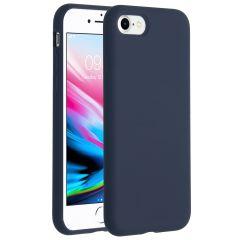 Accezz Coque Liquid Silicone iPhone SE (2020) / 8 / 7 - Bleu