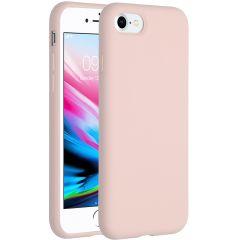 Accezz Coque Liquid Silicone iPhone SE (2020) / 8 / 7 - Rose