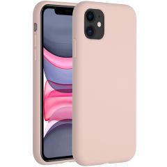 Accezz Coque Liquid Silicone iPhone 11 - Rose
