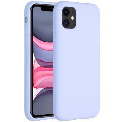 Accezz Coque Liquid Silicone iPhone 11 - Violet