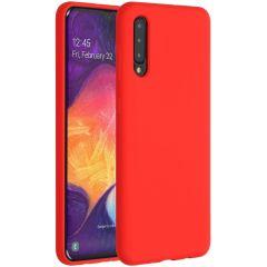 Accezz Coque Liquid Silicone Samsung Galaxy A50 / A30s - Rouge