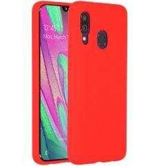 Accezz Coque Liquid Silicone Samsung Galaxy A40 - Rouge