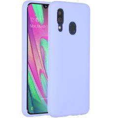 Accezz Coque Liquid Silicone Samsung Galaxy A40 - Violet