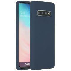 Accezz Coque Liquid Silicone Samsung Galaxy S10 - Bleu
