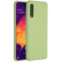 Accezz Coque Liquid Silicone Samsung Galaxy A50 / A30s - Vert