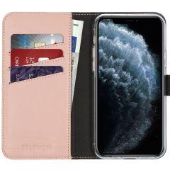 Selencia Étui de téléphone en cuir véritable iPhone 11 Pro - Rose