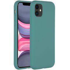 Accezz Coque Liquid Silicone iPhone 11 - Vert foncé