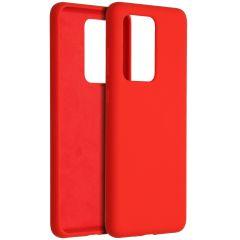 Accezz Coque Liquid Silicone Samsung Galaxy S20 Ultra - Rouge