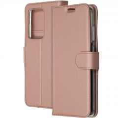 Accezz Étui de téléphone Wallet Samsung Galaxy S20 Ultra - Rose