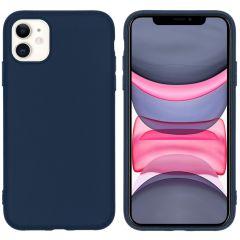iMoshion Coque Color iPhone 11 - Bleu foncé