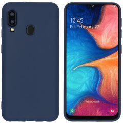iMoshion Coque Color Samsung Galaxy A20e - Bleu foncé