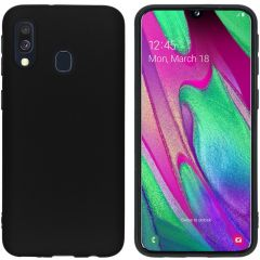 iMoshion Coque Color Samsung Galaxy A40 - Noir
