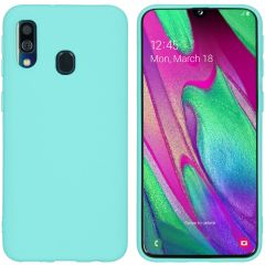 iMoshion Coque Color Samsung Galaxy A40 - Turquoise