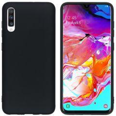 iMoshion Coque Color Samsung Galaxy A70 - Noir