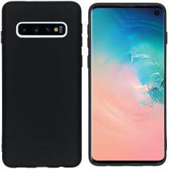 iMoshion Coque Color Samsung Galaxy S10 - Noir