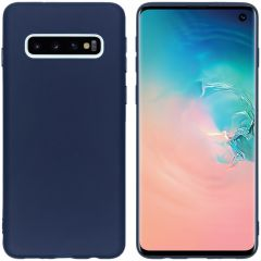 iMoshion Coque Color Samsung Galaxy S10 - Bleu foncé