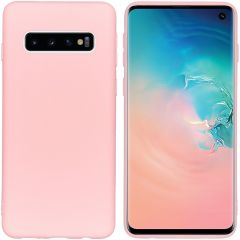 iMoshion Coque Color Samsung Galaxy S10 - Rose