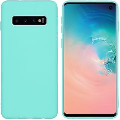 iMoshion Coque Color Samsung Galaxy S10 - Turquoise