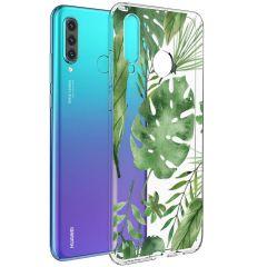 iMoshion Coque Design Huawei P30 Lite - Feuilles - Vert