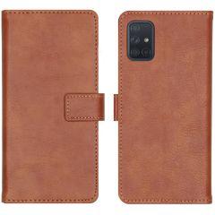 iMoshion Étui de téléphone portefeuille Luxe Galaxy A71 - Brun