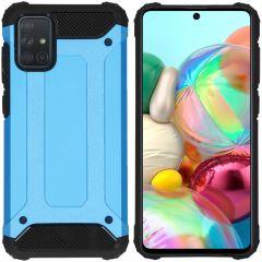 iMoshion Coque Rugged Xtreme Samsung Galaxy A71 - Bleu clair