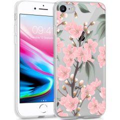 iMoshion Coque Design iPhone SE (2020) / 8 / 7 / 6s - Fleur - Rose