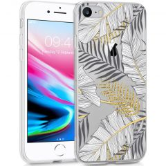 iMoshion Coque Design iPhone SE (2020) / 8 / 7 / 6s - Feuilles - Noir