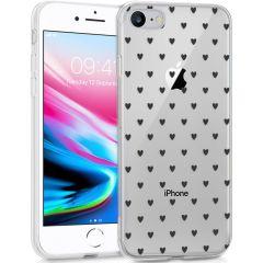 iMoshion Coque Design iPhone SE (2020) / 8 / 7 / 6s - Cœurs - Noir