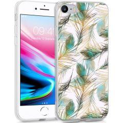 iMoshion Coque Design iPhone SE (2020) / 8 / 7 / 6s - Paon - Vert