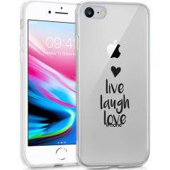 iMoshion Coque Design iPhone SE (2020) / 8 / 7 - Live Laugh Love