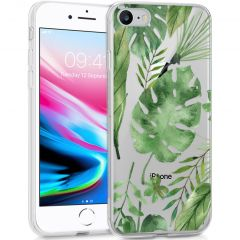 iMoshion Coque Design iPhone SE (2020) / 8 / 7 / 6s - Feuilles - Vert