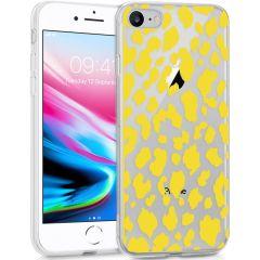 iMoshion Coque Design iPhone SE (2020) / 8 / 7 / 6s - Léopard - Jaune