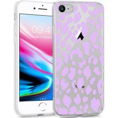 iMoshion Coque Design iPhone SE (2020) / 8 / 7 /6s - Léopard - Violet