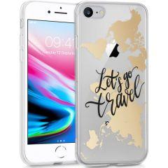 iMoshion Coque Design iPhone SE (2020) / 8 / 7  / 6s- Let's Go Travel