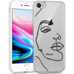 iMoshion Coque Design iPhone SE (2020) / 8 / 7 / 6s - Visage abstrait