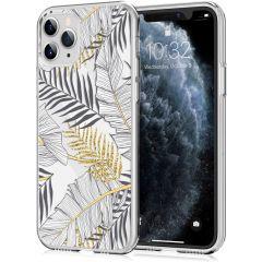 iMoshion Coque Design iPhone 11 Pro - Feuilles - Noir / Dorée