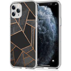 iMoshion Coque Design iPhone 11 Pro - Cuive graphique - Noir / Dorée