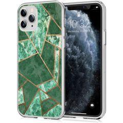 iMoshion Coque Design iPhone 11 Pro - Cuive graphique - Vert / Dorée