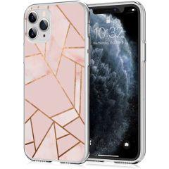 iMoshion Coque Design iPhone 11 Pro - Cuive graphique - Rose / Dorée
