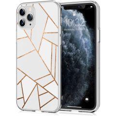 iMoshion Coque Design iPhone 11 Pro - Cuive graphique - Blanc / Dorée
