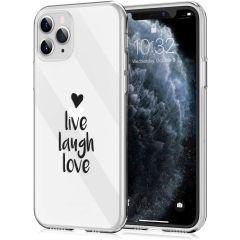 iMoshion Coque Design iPhone 11 Pro - Live Laugh Love - Noir