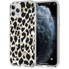 iMoshion Coque Design iPhone 11 Pro - Léopard - Dorée / Noir