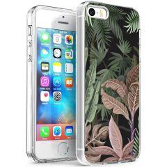 iMoshion Coque Design iPhone 5 / 5s / SE - Jungle - Vert / Rose