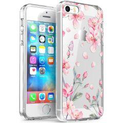 iMoshion Coque Design iPhone 5 / 5s / SE - Fleur - Rose