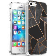 iMoshion Coque Design iPhone 5 / 5s / SE - Cuive graphique - Noir